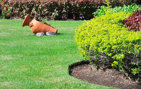 Foto eines gepflegten Gartens